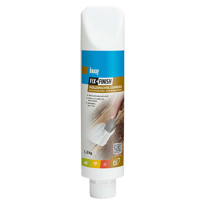 Knauf Fix+Finish Holzspachtel Express (1,3 kg, Grau) -
