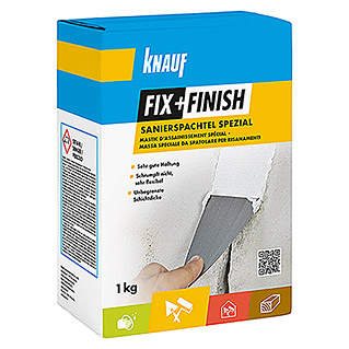Knauf Fix+Finish Spachtelmasse Sanierspachtel Spezial (1 kg)