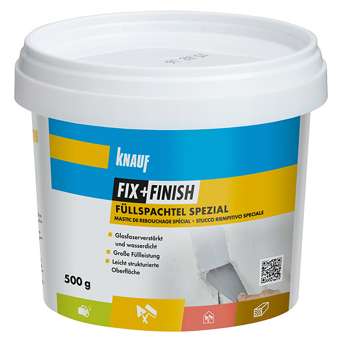 Knauf Fix+Finish Füllspachtel Spezial (500 g) -