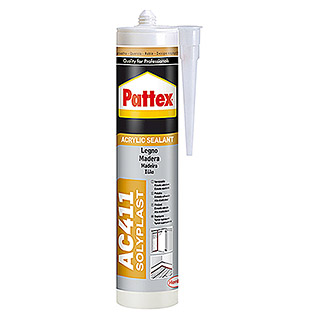 Pattex Masilla sellador Solyplast AC410  madera sapelly (300 ml)