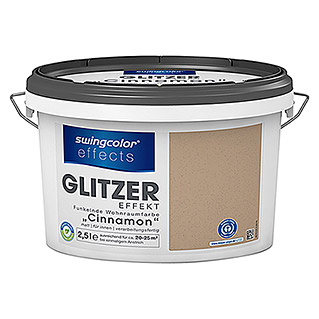 swingcolor effects Wohnraumfarbe Glitzer (Cinnamon, 2,5 l, Matt)