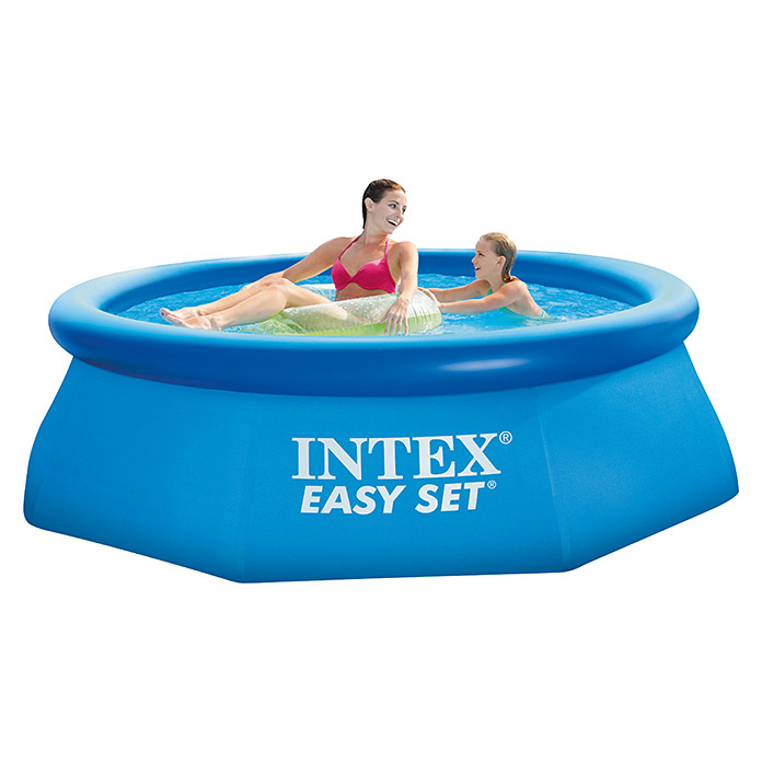 Intex Easy-Pool-Set (Ø x H: 244 x 76 cm, 2.419 l, Blau)