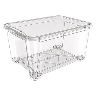 Regalux Clear Box XXL (145 l, Mit Rollen)