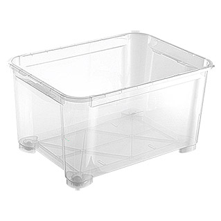 Regalux Clear Box (145 l, Mit Rollen)