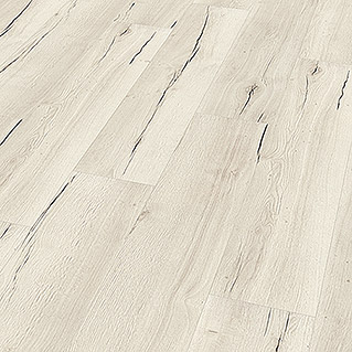Egger Home Laminat Creston Eiche Weiss (1.291 x 246 x 8 mm, Landhausdiele)