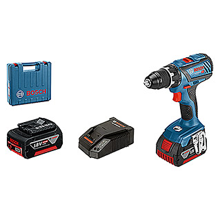 Bosch Professional Accuschroefboormachine GSR 18V-28 (4 Ah, 2 accu's, Onbelast toerental: 0 tpm - 1.900 tpm, Accessoires: 25-delig)