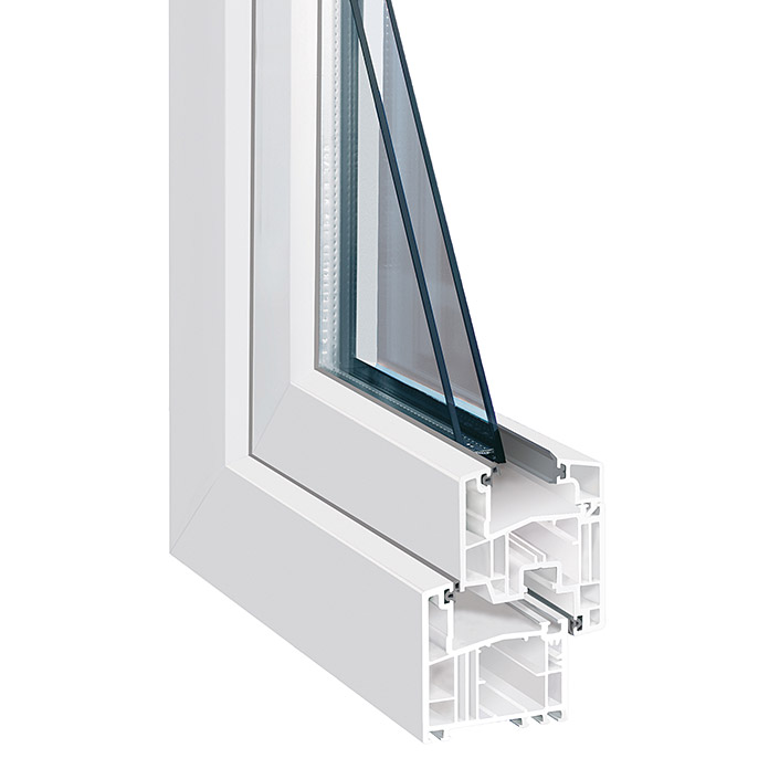 Bauhaus Fenster solid elements kunststofffenster eco line (b x h: 80 x 50 cm, din