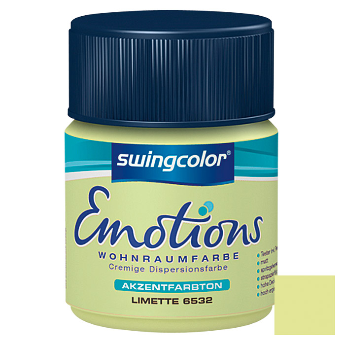 swingcolor Wohnraumfarbe Emotions Tester (Limette, 50 ml)