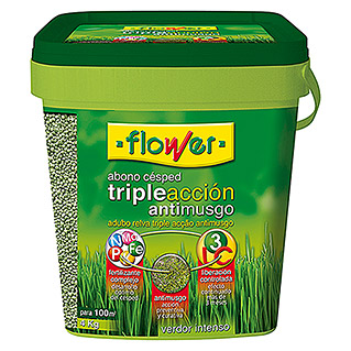 Flower Abono Césped Triple Acción (4 kg)