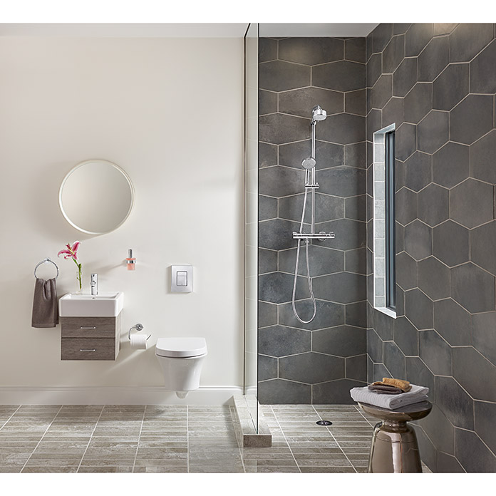 Grohe Essentials Portarrollos de pared (Sin tapa, Cromo, Brillante)