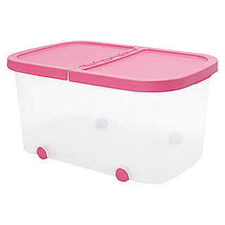 Plastiken Fresh Multibox (L x An x Al: 59 x 39 x 30 cm, Plástico, Color de tapa: Rosa)