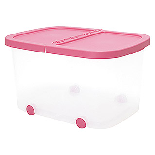 Plastiken Fresh Multibox (L x An x Al: 50 x 36 x 28 cm, Plástico, Color de tapa: Rosa)