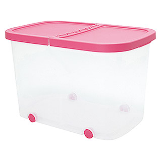 Plastiken Fresh Multibox (L x An x Al: 59 x 39 x 39 cm, Plástico, Color de tapa: Rosa)
