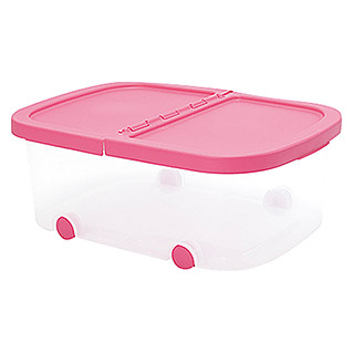 Plastiken Fresh Multibox (L x An x Al: 50 x 36 x 19 cm, Plástico, Color de tapa: Rosa)