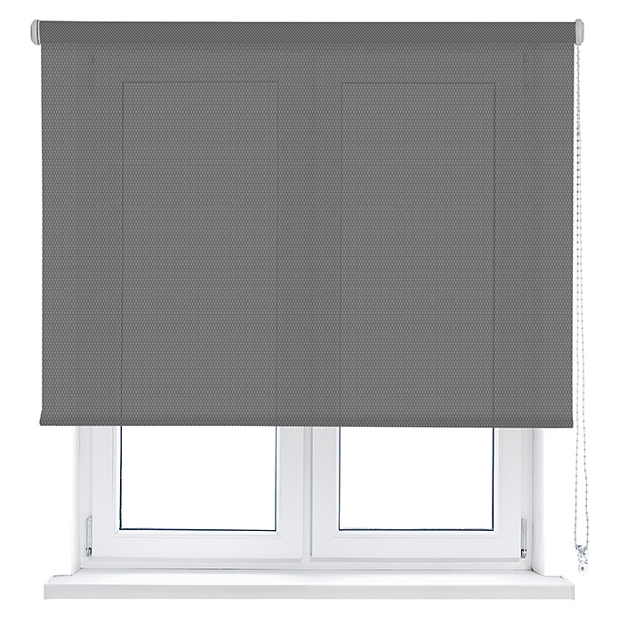 Viewtex Estor enrollable Screen 10% (An x Al: 180 x 190 cm, Gris perla, Traslúcido)