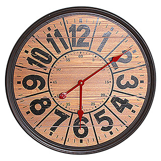 Reloj de pared redondo Red (Marrón, Diámetro: 57 cm)