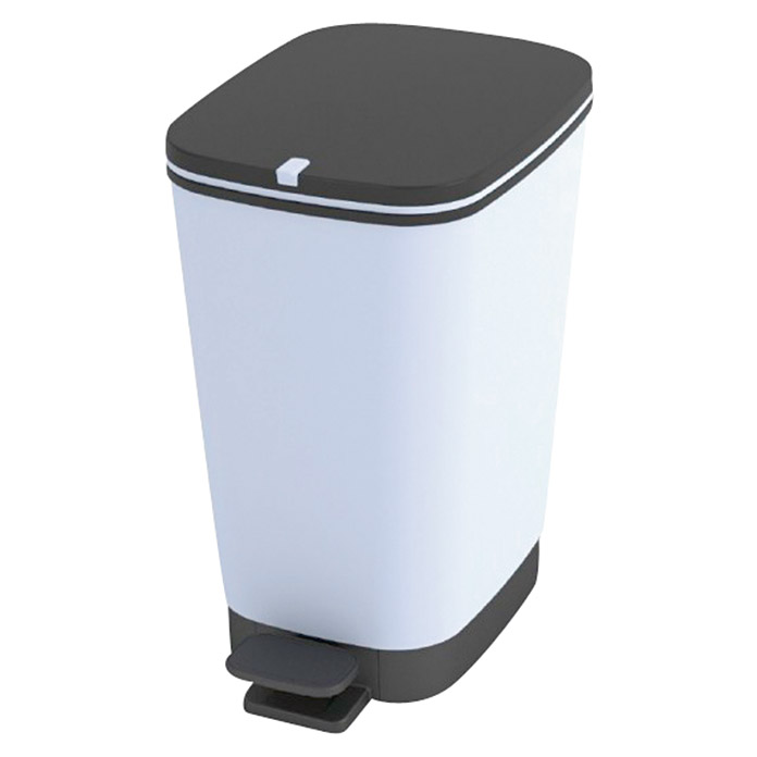 Keter Cubo con pedal Chic Blueberry (25 l, Blanco, Rectangular, Plástico)