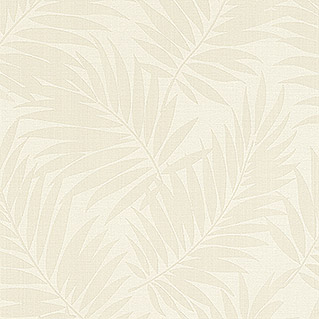 Barbara Home Collection Vliestapete Farn (Creme/Weiß, 10,05 x 0,53 m)