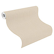 Barbara Home Collection Vliestapete (Beige, Uni, 10,05 x 0,53 m)