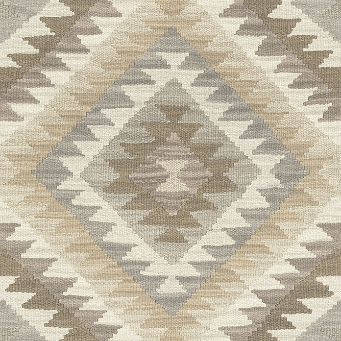 Barbara Home Collection Vliestapete Kelim (Creme/Beige/Grau/Braun, 10,05 x 0,53 m)