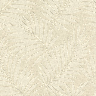 Barbara Home Collection Vliestapete Farn (Creme, 10,05 x 0,53 m)