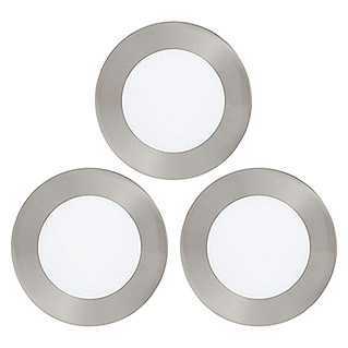 Tween Light LED-Einbauleuchten-Set (3 x 5,5 W, Warmweiß, 120 mm, Nickel matt, 3 Stk.)