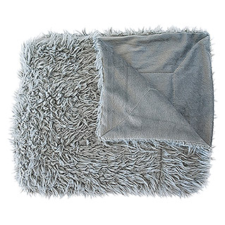 Plaid Fur (130 x 160 cm, Gris, Rectangular)