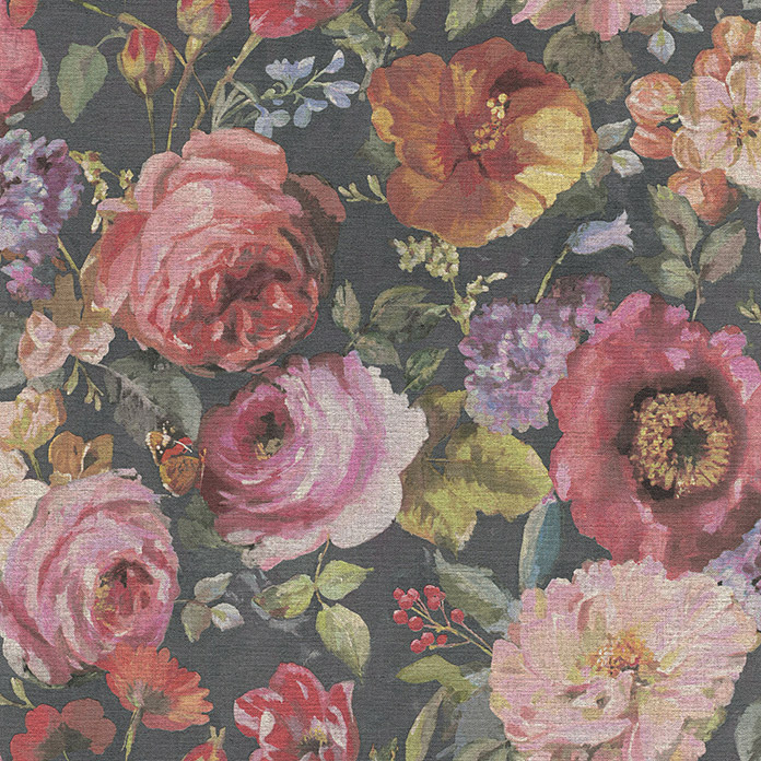 Barbara Home Collection Vliestapete Floral I (Bunt, Floral, 10,05 x 0,53 m) -