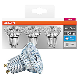 Osram Bombilla LED (3 uds., GU10, 4,3 W, Color de luz: Blanco neutro, No regulable)