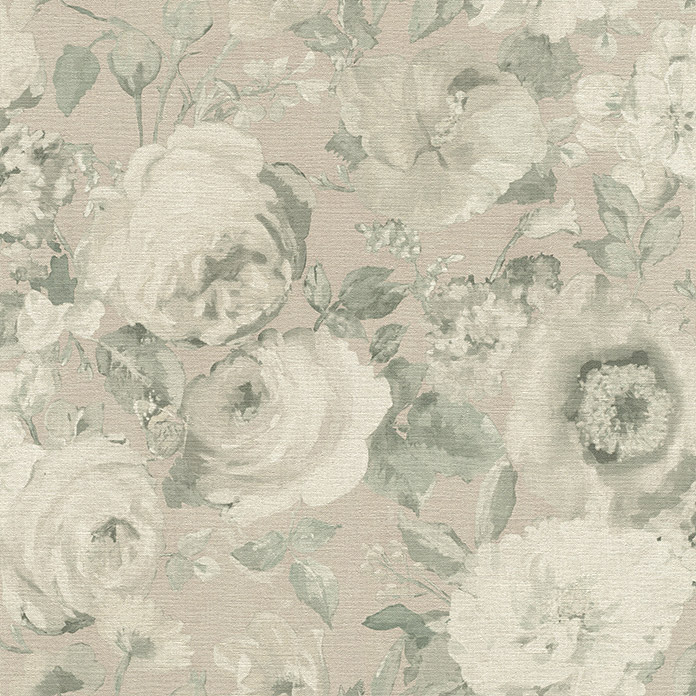 Barbara Home Collection Vliestapete Floral I (Beige, Floral, 10,05 x 0,53 m)