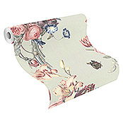 Barbara Home Collection Vliestapete Floral II (Mint, Floral, 10,05 x 0,53 m)