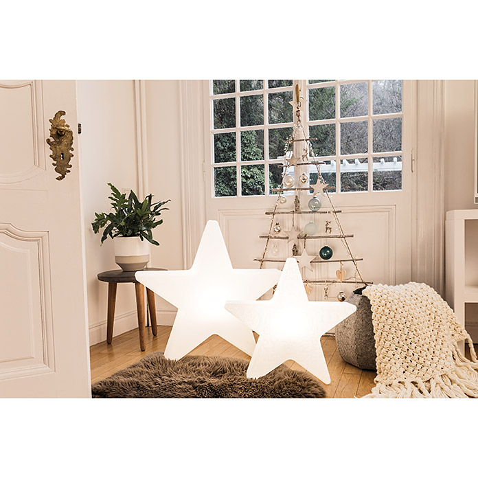 8 seasons design shining led weihnachtsstern star 6 w wei durchmesser 80 cm 3080. Black Bedroom Furniture Sets. Home Design Ideas