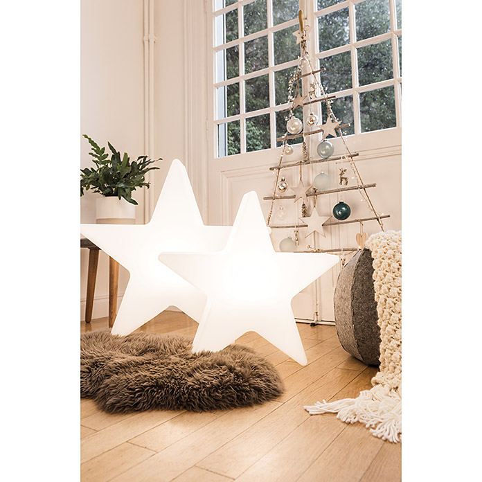 8 seasons design shining led weihnachtsstern star 6 w wei durchmesser 60 cm 3080. Black Bedroom Furniture Sets. Home Design Ideas