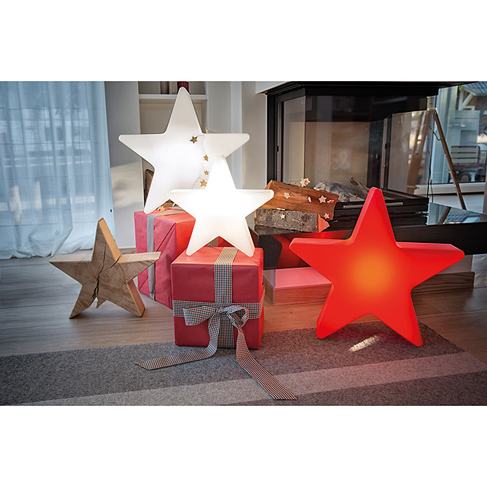 8 seasons design shining led weihnachtsstern star mini 6 w wei durchmesser 40 cm 3080. Black Bedroom Furniture Sets. Home Design Ideas