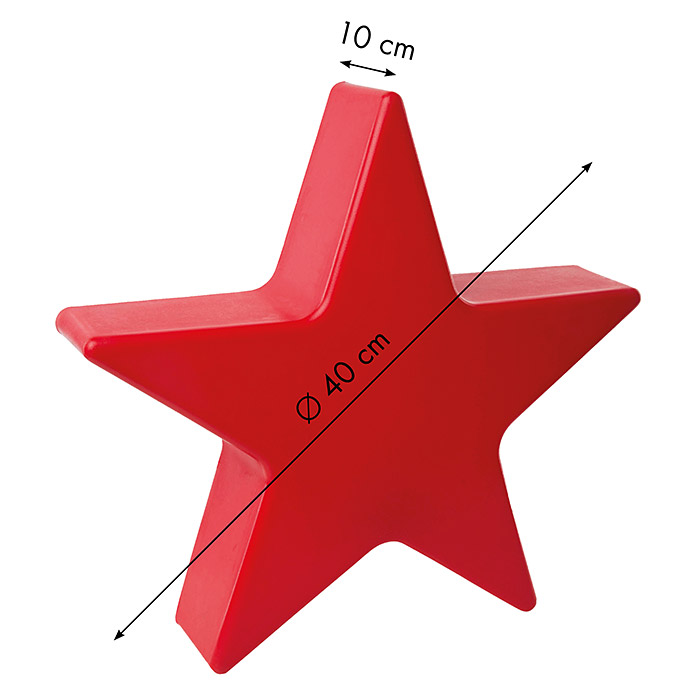 8 Seasons Design Shining Leuchtstern Star Mini (9 W, Rot)