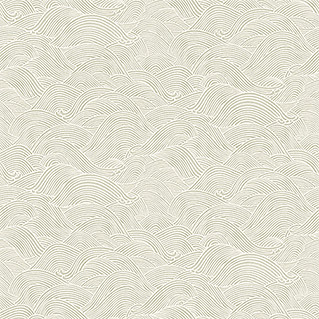 Barbara Home Collection Vliestapete Welle (Taupe/Cremeweiß, Wellen, 10,05 x 0,53 m)