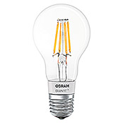 Osram Smart+ Bluetooth LED-Leuchtmittel A 60 Filament (5,5 W, E27, Transparent, Birnenform)