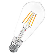 Osram Smart+ Bluetooth LED-Leuchtmittel Edison 60 Filament (5,5 W, E27, Transparent, Kerzenform)