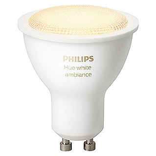 Philips Hue Bombilla LED (5,5 W, GU10, Temperatura de color ajustable, 1 ud.)