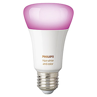 Philips Hue Bombilla LED RGB (10 W, E27, RGBW, Temperatura de color ajustable, 1 ud.)