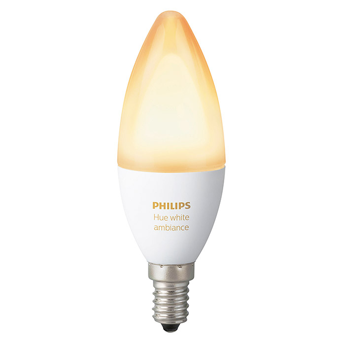 Philips Hue Bombilla LED (6 W, E14, Temperatura de color ajustable, Intensidad regulable, 1 ud.)