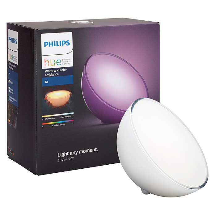philips hue led tischleuchte go 6 w wei l x b x h 15 x 15 x 7 9 cm 3017 null caca. Black Bedroom Furniture Sets. Home Design Ideas