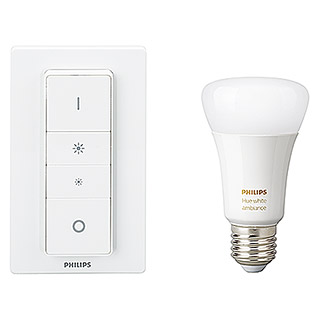 Philips Hue LED-Leuchtmittel-Set Starter Kit (10,5 W, E27, Einstellbare Farbtemperatur, Dimmbar, 1 Stk.)