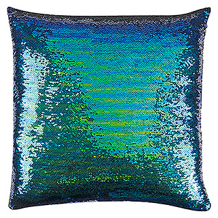 FREUNDIN HOME COLLECTION Paradise Kissen (Pailletten, Blau/Grün, 45 x 45 cm, 100 % Polyester)