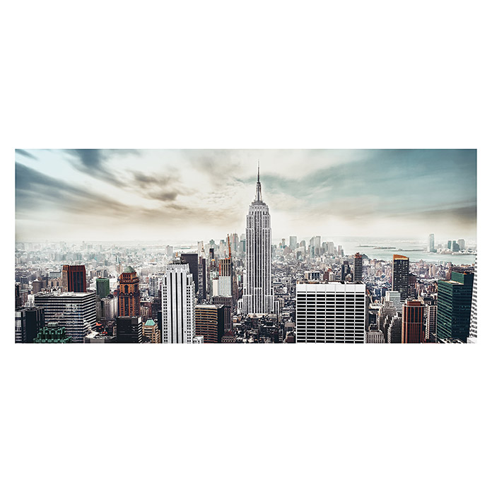 Glasbild (Manhattan, 125 x 50 cm) -