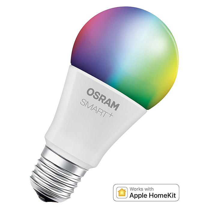 Osram Smart+ Bluetooth LED-Leuchtmittel HomeKit (10 W, E27, Einstellbare Farbtemperatur, RGBW, Dimmbar)
