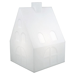 8 Seasons Design Shining LED-Dekoleuchte House (Weiß, L x B x H: 39 x 39 x 60 cm)