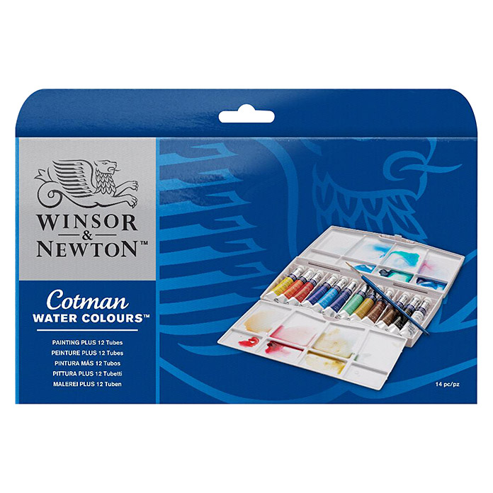 Winsor & Newton Cotman Aquarellfarben-Set Painting Plus (12 x 8 ml Tuben) -