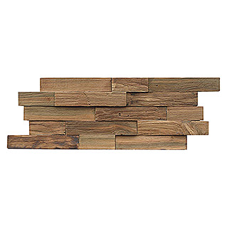 Indo Holzpaneele 3D Wall Nature (Teak, 500 x 200 x 10 mm, 10 Paneele)