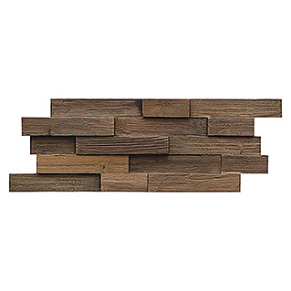 Indo Holzpaneele 3D Wall Charred (Teak, 500 x 200 x 10 mm, 10 Paneele)